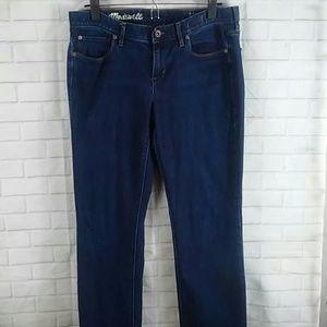 Madewell jeans rail straight 30